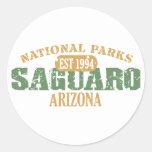 Saguaro National Park Round Stickers