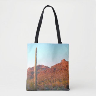 Saguaro National park sunset Tote Bag