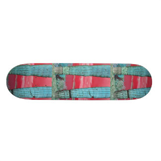Saguaro Pillar in Red Sky & Turquoise Skate Board