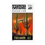 Saguaro Saguarro Cactus Evening Tucson AZ Stamps