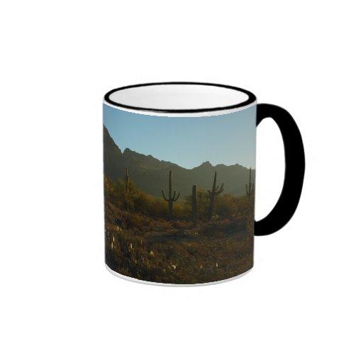 Saguaro Sunrise at Saguaro National Park Ringer Mug