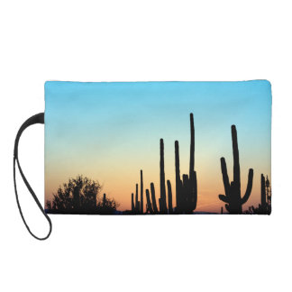 Saguaro Sunset Wristlet Clutch