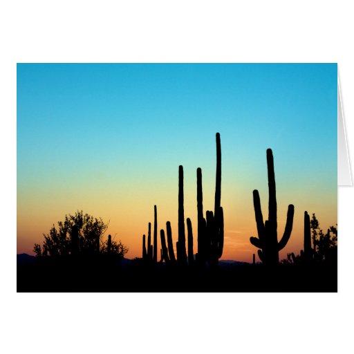 Saguaro Sunset Greeting Card