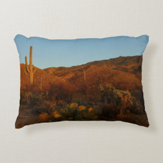 Saguaro Sunset I Arizona Desert Landscape Decorative Pillow