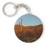 Saguaro Sunset I Arizona Desert Landscape Keychain