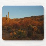 Saguaro Sunset I Arizona Desert Landscape Mouse Pad
