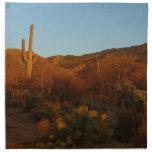 Saguaro Sunset I Arizona Desert Landscape Napkin