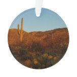 Saguaro Sunset I Arizona Desert Landscape Ornament