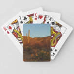 Saguaro Sunset I Arizona Desert Landscape Playing Cards