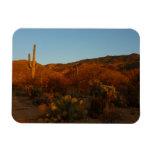 Saguaro Sunset I Arizona Desert Landscape Rectangular Photo Magnet