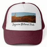 Saguaro Sunset I Arizona Desert Landscape Trucker Hat