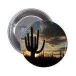 Saguaro Sunset II Arizona Desert Landscape 2 Inch Round Button