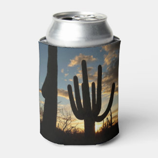 Saguaro Sunset II Arizona Desert Landscape Can Cooler