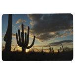Saguaro Sunset II Arizona Desert Landscape Floor Mat