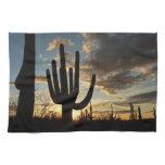 Saguaro Sunset II Arizona Desert Landscape Hand Towel