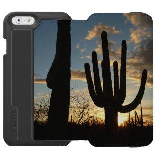 Saguaro Sunset II Arizona Desert Landscape iPhone 6/6s Wallet Case