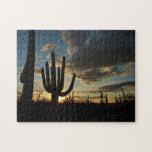 Saguaro Sunset II Arizona Desert Landscape Jigsaw Puzzle