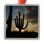 Saguaro Sunset II Arizona Desert Landscape Metal Ornament