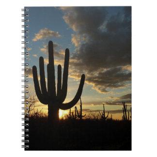 Saguaro Sunset II Arizona Desert Landscape Notebook