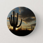 Saguaro Sunset II Arizona Desert Landscape Pinback Button