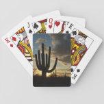 Saguaro Sunset II Arizona Desert Landscape Poker Cards