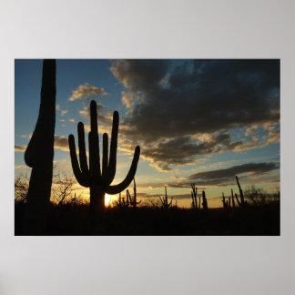 Saguaro Sunset II Arizona Desert Landscape Poster