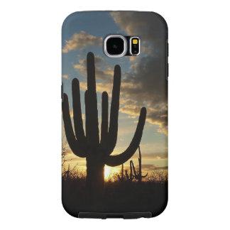 Saguaro Sunset II Arizona Desert Landscape Samsung Galaxy S6 Case