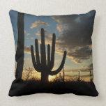 Saguaro Sunset II Arizona Desert Landscape Throw Pillow