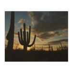 Saguaro Sunset II Arizona Desert Landscape Wood Wall Decor