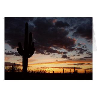 Saguaro Sunset III Arizona Landscape Card