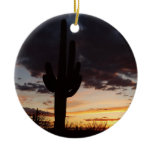 Saguaro Sunset III Arizona Landscape Ceramic Ornament