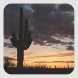 Saguaro Sunset III Arizona Landscape Square Sticker