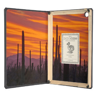 Saguaro, sunset, Saguaro National Park iPad Air Covers