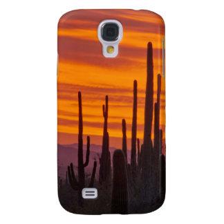 Saguaro, sunset, Saguaro National Park Samsung S4 Case