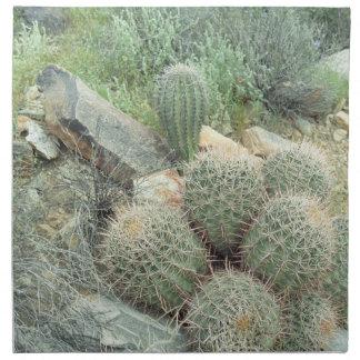 Saguaro Swirl Desert Cactus Photo Cotton Napkins