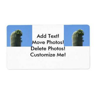 Saguaro Top Flowering Buds Label
