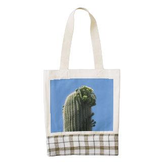 Saguaro Top Flowering Buds Zazzle HEART Tote Bag
