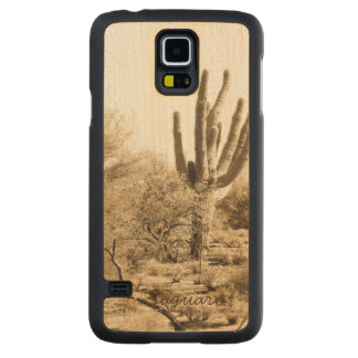 Saguaro - Wooden Phone Case Carved® Maple Galaxy S5 Slim Case