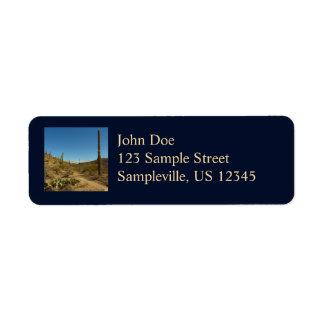 Saguaro's Carillo Trail in Saguaro National Park Label