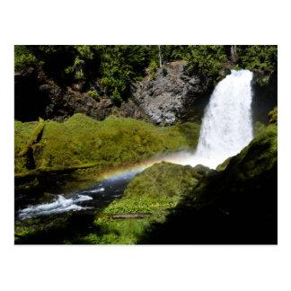 Sahalie Falls Rainbow Postcard