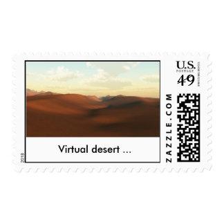 Sahara_1(Full HD), Virtual desert ... Postage Stamp