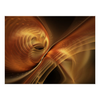 Sahara Abstract Fractal Art Poster