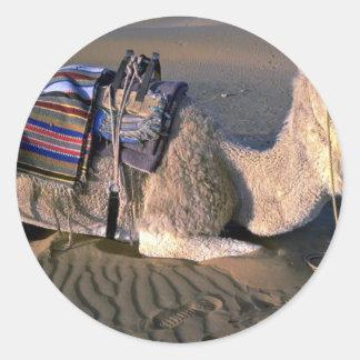 Sahara Desert near Merzouga, Morocco Classic Round Sticker