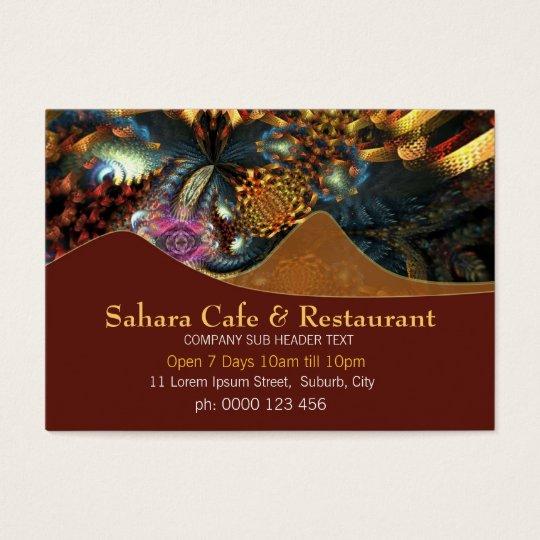 Sahara Hills Fractal Art Business Cards