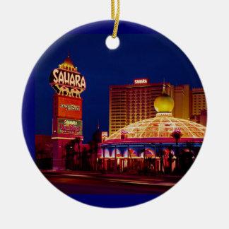 Sahara Hotel Las Vegas Ceramic Ornament