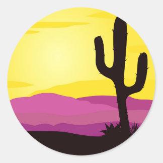 Sahara original drawing classic round sticker