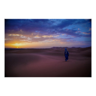 Saharan Sunrise Poster