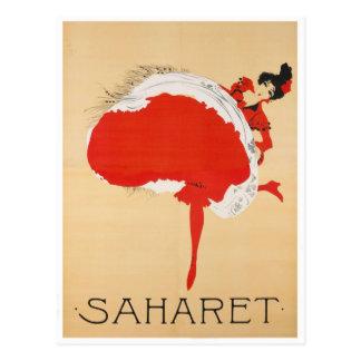 Saharet French Art Nouveau Publicity Poster Postcard