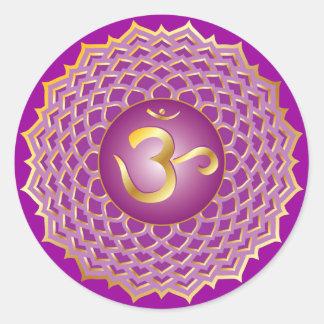 Sahasrara o pegatina del chakra de la corona
