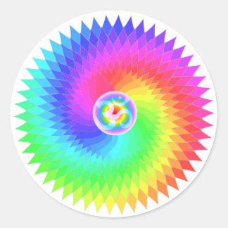 Sahasrara The Crown Chakra Round Stickers